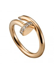 cartier juste un clou ring pink gold diamond B4094800 replica