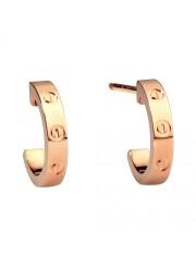 cartier love pink Gold earring screw design B8029000 replica