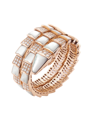 Bvlgari Serpenti Bracelet pink gold with mother of pearl and diamonds BR857083 replica