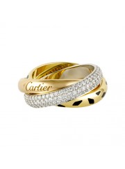 trinity de Cartier 3-gold ring leopard print covered diamond N4226500 replica