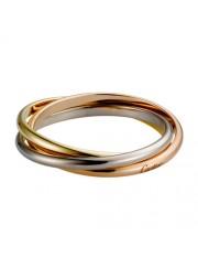 trinity de Cartier 3-gold ring titanium steel 3 rings replica