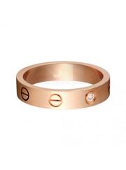 cartier love pink Gold ring mosaic one diamond narrow version replica