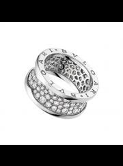 Bvlgari B.ZERO1 ring white gold Central Covered with diamonds AN855552 replica