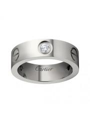 cartier love white gold ring mosaic three diamond wide version replica
