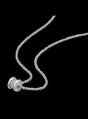 Bvlgari B.ZERO1 necklace white gold paved with diamonds pendant CL857519 replica