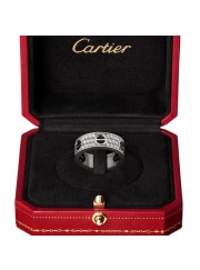cartier love ring white gold covered diamond wide version replica