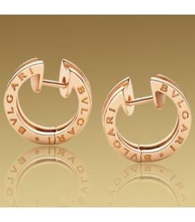 Replica Bvlgari B.ZERO1 Earrings in Pink Gold