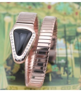 Bulgari SERPENTI Bracelet in Pink Gold with Black Onyx and Demi