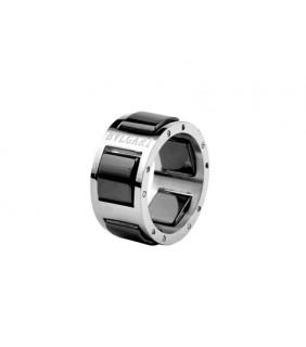 Bvlgari Black Ceramic Ring in 18kt White Gold