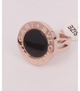 BVLGARI Ring in 18kt Pink Gold with Black Mother of Pearl