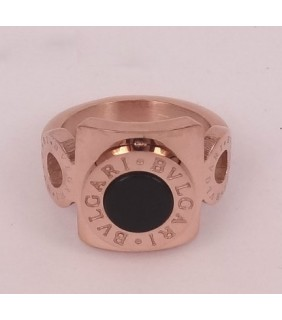 Bvlgari Ring in 18kt Pink Gold with Black Onyx
