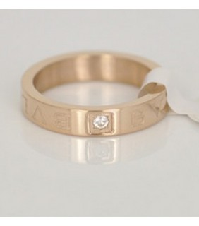 Bvlgari Engagement Ring in 18kt Pink Gold With Diamond