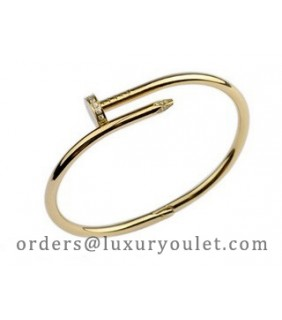 Cartier Juste un Clou Bracelet in 18kt Yellow Gold Diamond-Paved