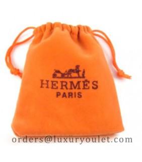 Hermes Jewelry Velvet Pouch (12cm * 10.5cm)