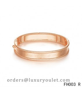Van Cleef & Arpels Perlee Signature Bracelet,Pink Gold,Medium Model
