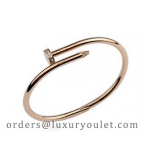 Cartier Juste un Clou Bracelet in 18kt Pink Gold Diamond-Paved