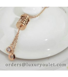 cartier Chinese Style Charm Necklace in Pink Gold with Diamond