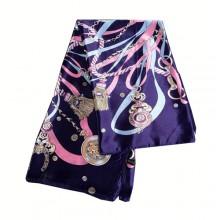 Authentic Hermes Pattern Silk Scarf Pink Mazarine