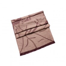 Discount Hermes Wool Shawl Scarf Apricot Sale
