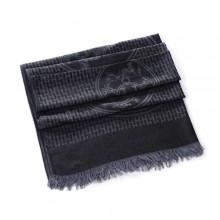 Discount Hermes Wool Shawl Scarf Dark Grey Sale