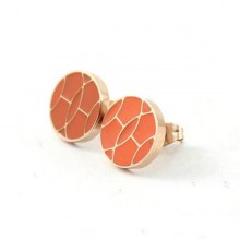 New Hermes Earring, Original with Pink Gold