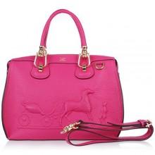 Hermes Leather Bag H1022 Rose/Gold