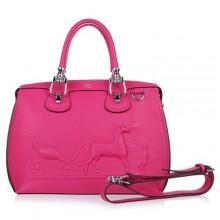 Hermes Leather Bag H1022 Rose/Silver