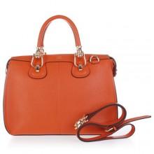 Hermes Leather Bag H1322 Orange/Gold