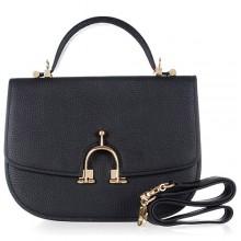 Hermes Leather Bag H39108 Black/Gold