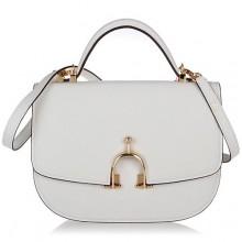Hermes Leather Bag H39108 White/Gold
