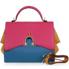 Hermes Multicolor Leather Stirrup Mini Tote 509118 Rose/Blue/Yellow