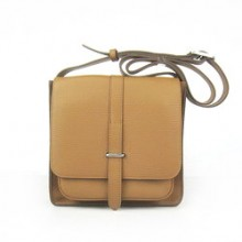 Hermes coffee Cow Leather Messenger Bags H2811