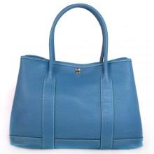 Hermes Garden Party 36CM Bag Clemence Blue