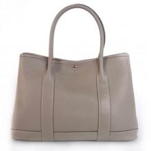 Hermes Garden Party 36CM Bag Clemence Grey