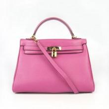 Hermes Kelly 32cm Togo Leather Bag Peachblow 6108 Gold