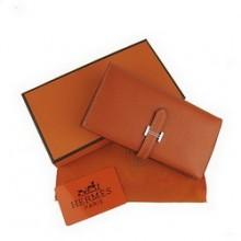 Hermes Leather Long Wallet H005