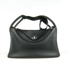 Hermes Lindy 34CM Shoulder Bag Black