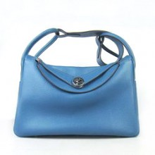 Hermes Lindy 34CM Shoulder Bag Blue