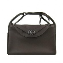 Hermes Lindy 34CM Shoulder Bag Dark Coffee
