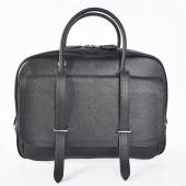 Hermes Steve 38CM Travel Bag Clemence Leather Black
