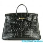 Hermes Birkin 40CM Bag Black Crocodile Leather