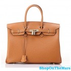 Hermes 1:1 Design Birkin Clemence Leather Bag Brown