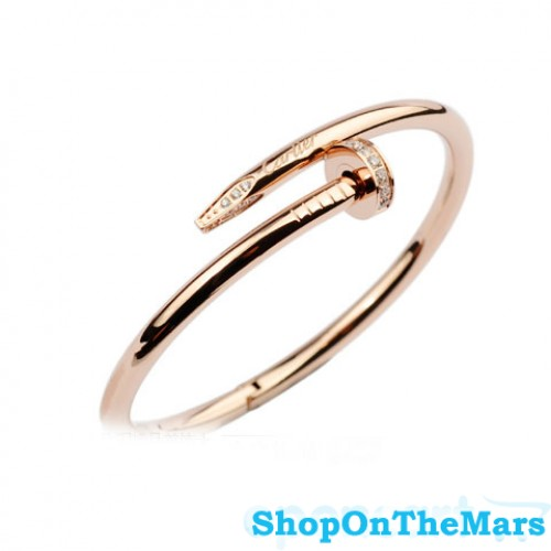 a273e72a01de7 Cartier 18k Rose Gold Plated Juste Un Clou Bracelet with Diamonds