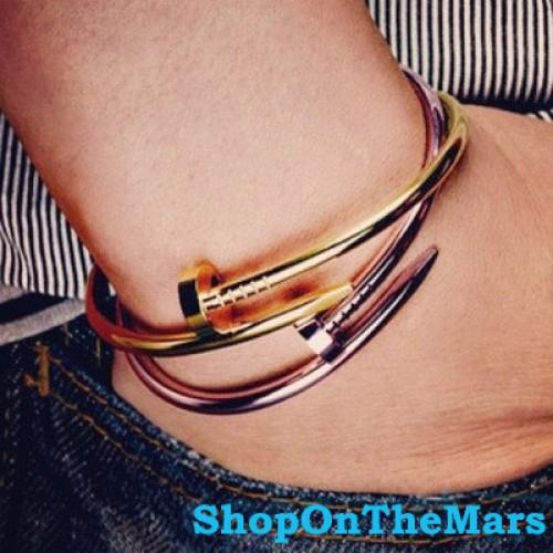 2fad324622cc6 High Quality Cartier Inspired Nail Bracelet Gold Nail Bangle Bracelet