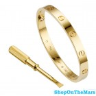 Cartier Original Design Gold Plated Love Bracelet without Diamonds