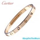 Unisex Cartier 18K Gold Love Bracelet Without Diamonds