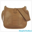 Hermes Evelyne III Message Bag Coffee Color