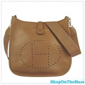Hermes Evelyne III Message Bag Coffee Color