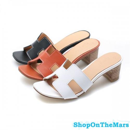 Sandals Slippers Calf Leather For Hermes Summer R35j4AL