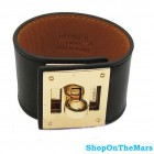 Hermes Kelly Dog Cuff Bracelet With Gold Palladium Hardware